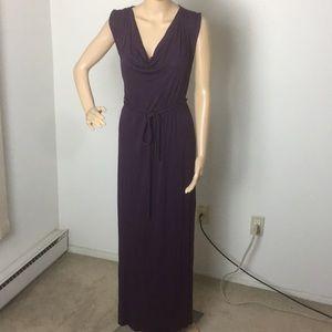 Lovely long sleeveless purple dress NWT.     XS
